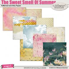 The Sweet Smell Of Summer Patterned and Artsy Papers by On A Whimsical Adventure