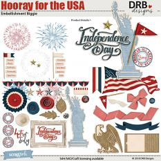 Hooray for the USA Embellishment Biggie by DRB Designs | ScrapGirls.com
