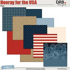Hooray for the USA Paper by DRB Designs | ScrapGirls.com