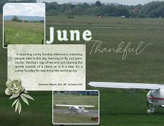 """June"" digital scrapbook layout features ScrapSimple Digital Layout Album Templates: 8.5x22 Scrap It Monthly 4 Series 2"
