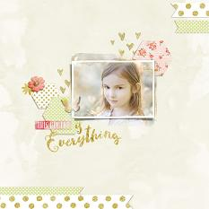 Scrapbook layout using Stories We Tell digital layout templates