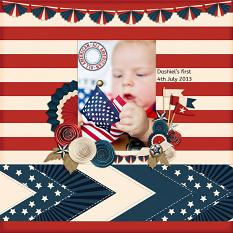 """Dashiel's First 4th"" digital scrapbook layout by Andrea Hutton"