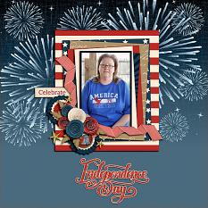 """Independence Day"" digital scrapbook layout by Shauna Trueblood"