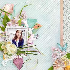 layout using Tendre Ete 2 Embellishment Mini by florju designs