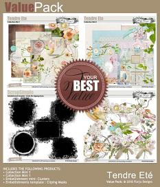 layout using Tendre Ete Collection Mini 1 by florju designs