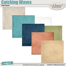 Catching Waves Solid Papers by On A Whimsical Adventure