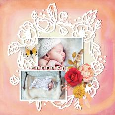 """Perfect"" digital scrapbook layout by Darryl Beers"