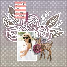 """Everyday Moments"" digital scrapbook layout by Darryl Beers"