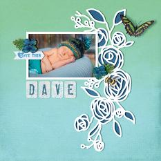 """Dave"" digital scrapbook layout by Darryl Beers"