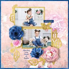 """Harley"" digital scrapbook layout by Darryl Beers"