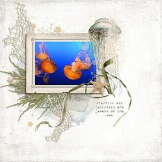 Digital layout using Value Pack Catching Waves by On A Whimsical Adventure