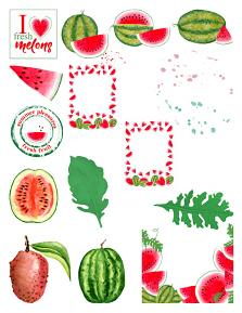 Summer Melon Super Mini sheet 1 by Aftermidnight Design