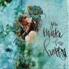 Scrapbook layout created with Wordsmith Embellishment Cluster templates