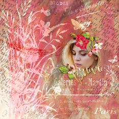 Scrapbook page uses Wordsmith Embellishment Cluster templates