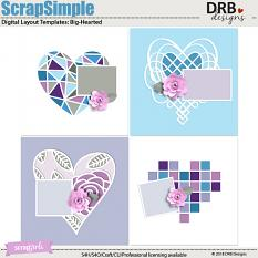 ScrapSimple Digital Layout Template: Big-Hearted by DRB Designs