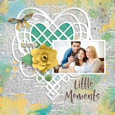"""Little Moments"" digital scrapbook layout by Darryl Beers"