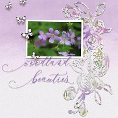 """Woodland Beauties"" digital scrapbook layout by Debby Leonard"
