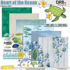 Heart of the Ocean Collection Mini by DRB Designs | ScrapGirls.com