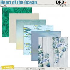 Heart of the Ocean Paper Mini by DRB Designs | ScrapGirls.com