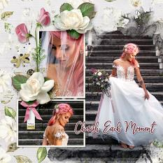 """Cherish Each Moment"" digital scrapbook layout by Darryl Beers"