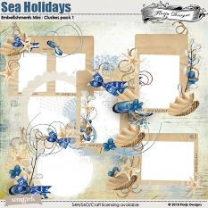 Sea Holidays Embellishment Mini: Cluster Pack 1 by florju designs