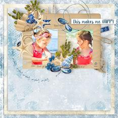 layout using  Sea Holidays Embellishment Mini: Cluster Pack 1 by florju designs