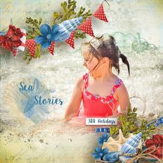 layout using Sea Holidays Embellishment Mini: Cluster Pack 2 by florju designs