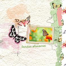 Layout by Marie Orsini using the kits in the Butterflies series by Aftermidnight Design