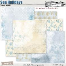 Sea Holidays Addon papers by florju designs