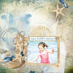 layout using Sea Holidays Word art and Word tag by florju designs