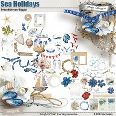Sea Holidays Embellishment Biggie by florju designs