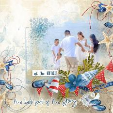 layout using Value Pack : Sea Holidays by florju designs