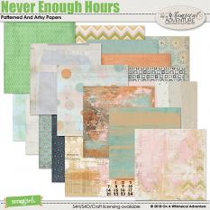 Never Enough Hours Patterned and Artsy Papers by On A Whimsical Adventure
