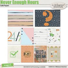 Never Enough Hours Journal Cards by On A Whimsical Adventure