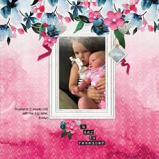 """""""A Day to Remember"""" digital scrapbook layout by Andrea Hutton"""