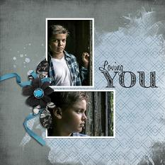 """Loving You"" digital scrapbook layout by Carmel Munro"
