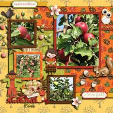 Layout using Apple Picking Ppaers and Apple Picking Collection