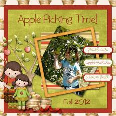 Layout made by Faith using Apple Picking Collection