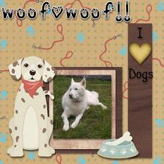 Layout made by Nancy using Puppy Kisses Collection