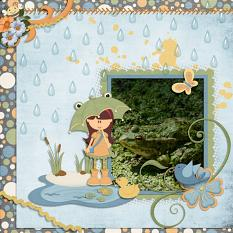 Layout By Hannah using Rainy Day Collection