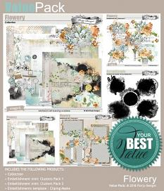 ScrapSimple Embellishment template: Flowery Clipping Mask by Florju Designs