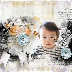 layout using ScrapSimple Embellishment template: Flowery Clipping Mask by Florju Designs