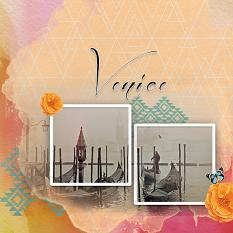 """Venice"" digital scrapbook layout by Marie Hoorne"