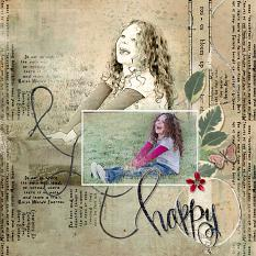 Scrapbook layout created using Wordsmith Custom Layer Styles