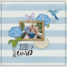 """""""You are my Whole World"""" digital scrapbook layout by Darryl Beers"""