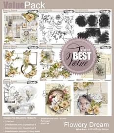 ScrapSimple Embellishment template: Flowery Dream Clipping Mask by florju designs