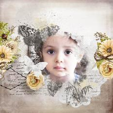 layout using ScrapSimple Embellishment template: Flowery Dream Clipping Mask by florju designs