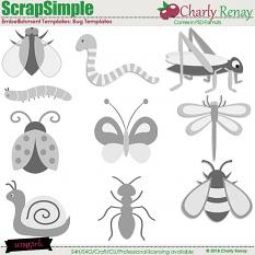 Bug Embellishment Templates By Charly Renay