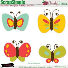 Scrapsimple Embellishments Templates:Butterfly Templates By Charly Renay