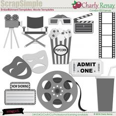 Scrapsimple Embellishments Templates: Movie Templates By Charly Renay